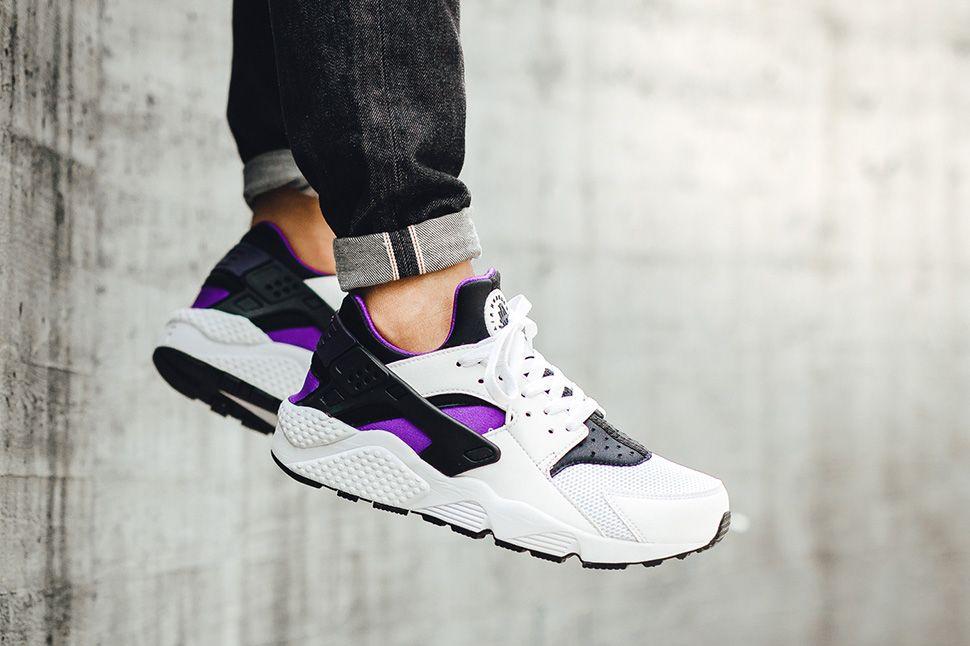 On Foot Nike Air Huarache Purple Punch Zapatos