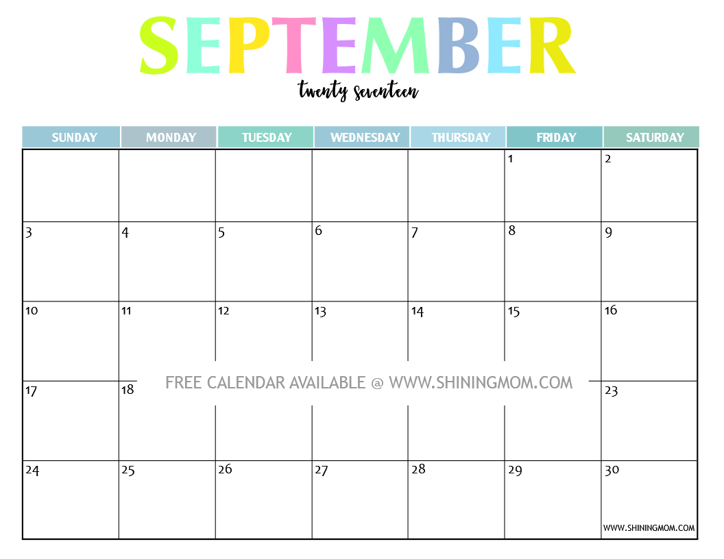 Your Free Printable Calendar Fun And Colorful