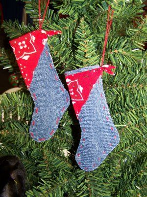 Handmade Western Christmas Ornaments Country Christmas Western Stocking Or Western Christmas Tree Ornaments Western Christmas Christmas Stocking Ornament