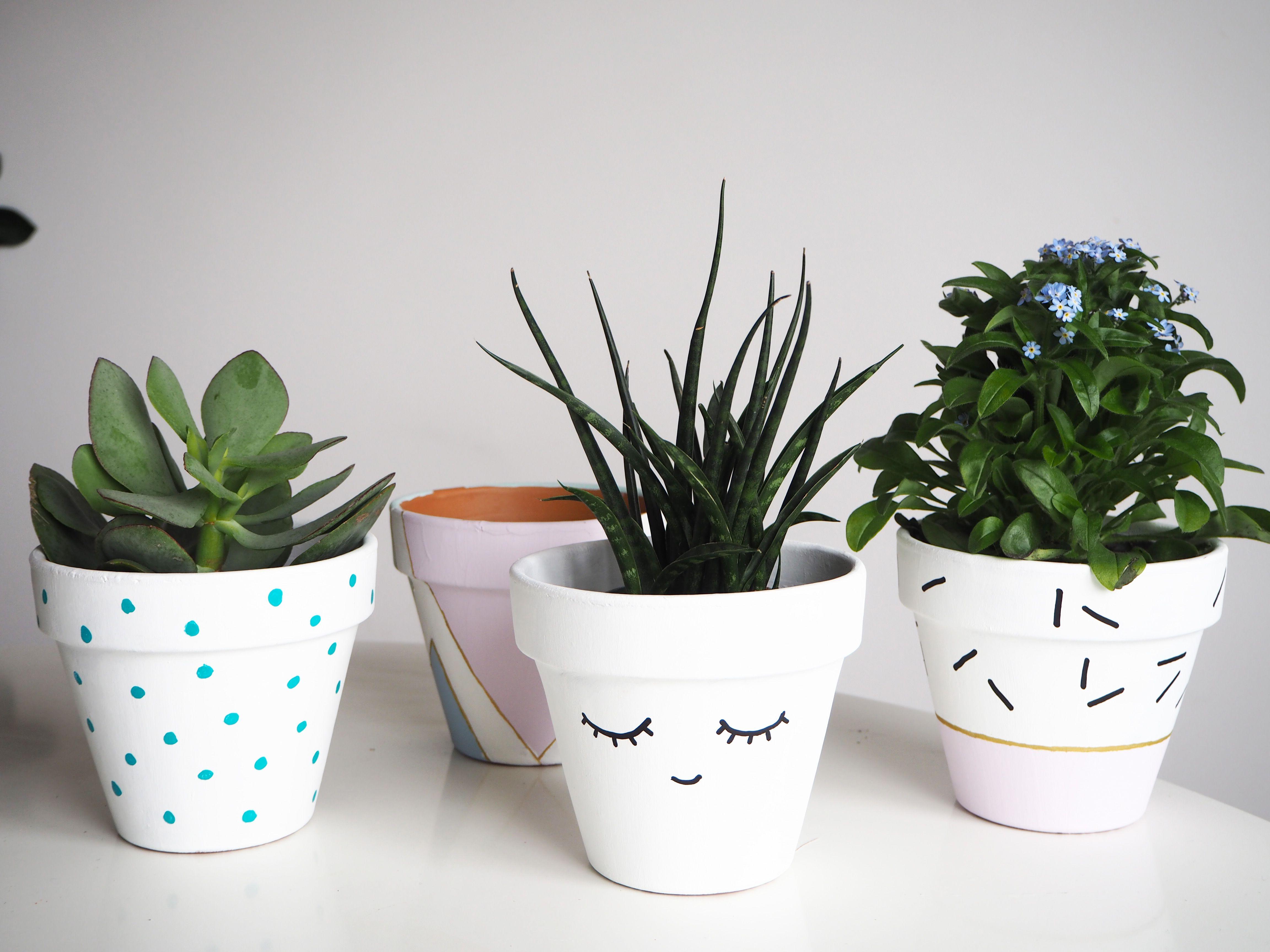 4 id es pour customiser un pot facilement d co for the. Black Bedroom Furniture Sets. Home Design Ideas