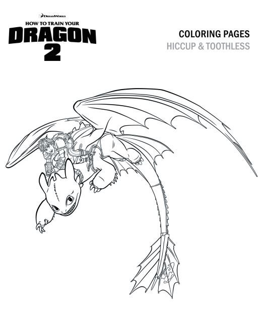How To Train Your Dragon Photo Hiccup And Toothless Coloring Page