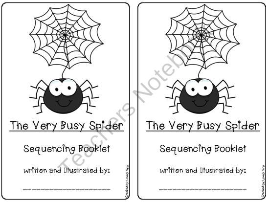 Sequencing the Very Busy Spider by Eric Carle (6 pages
