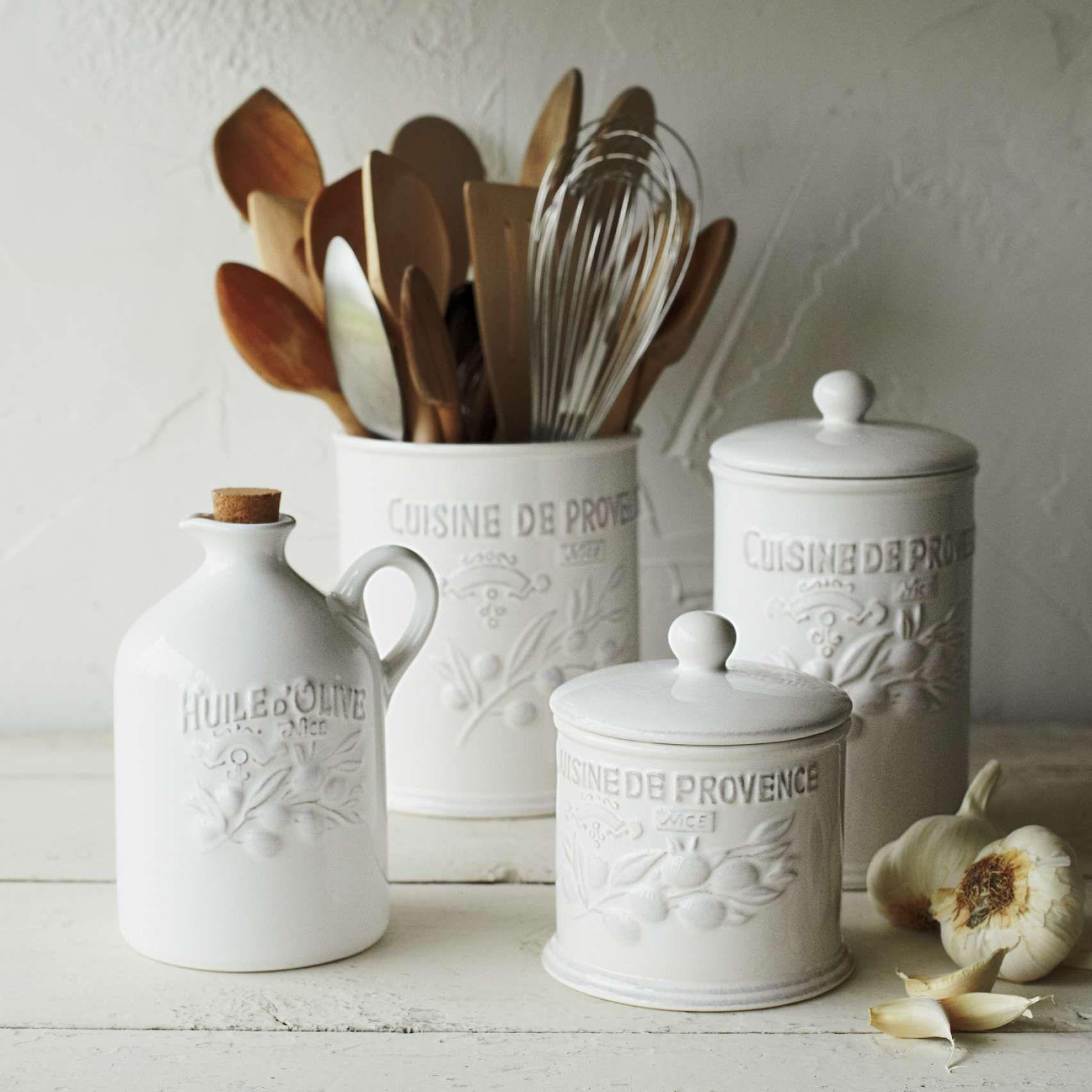 Provençal Utensil Crock | Sur La Table | Farm\'s kitchen | Pinterest ...