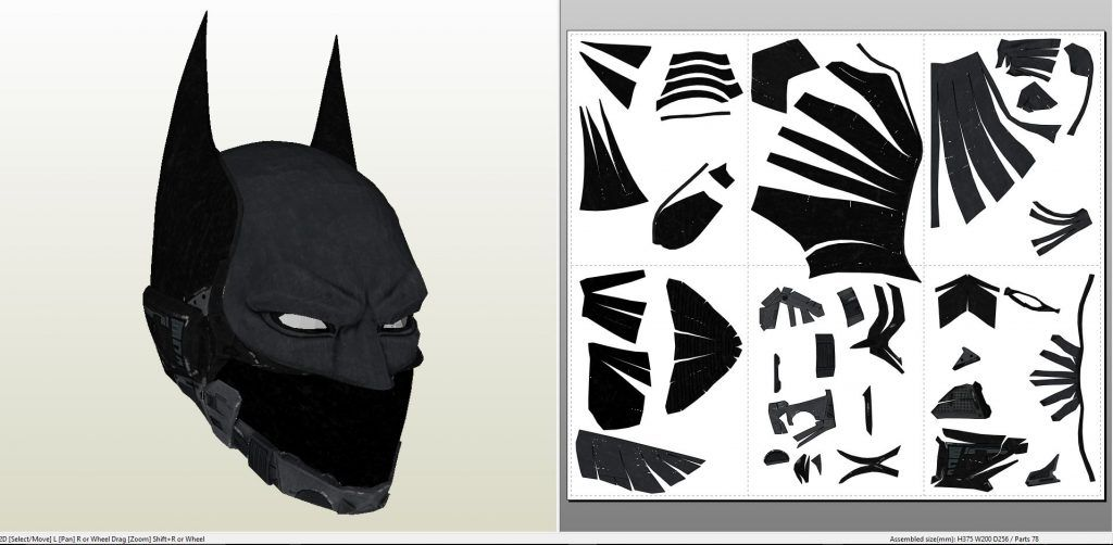 Papercraft pdo file template for Batman Arkham Knight Beyond