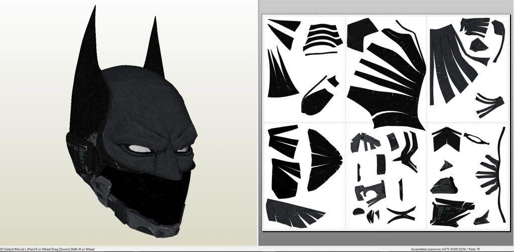 papercraft pdo file template for batman arkham knight beyond