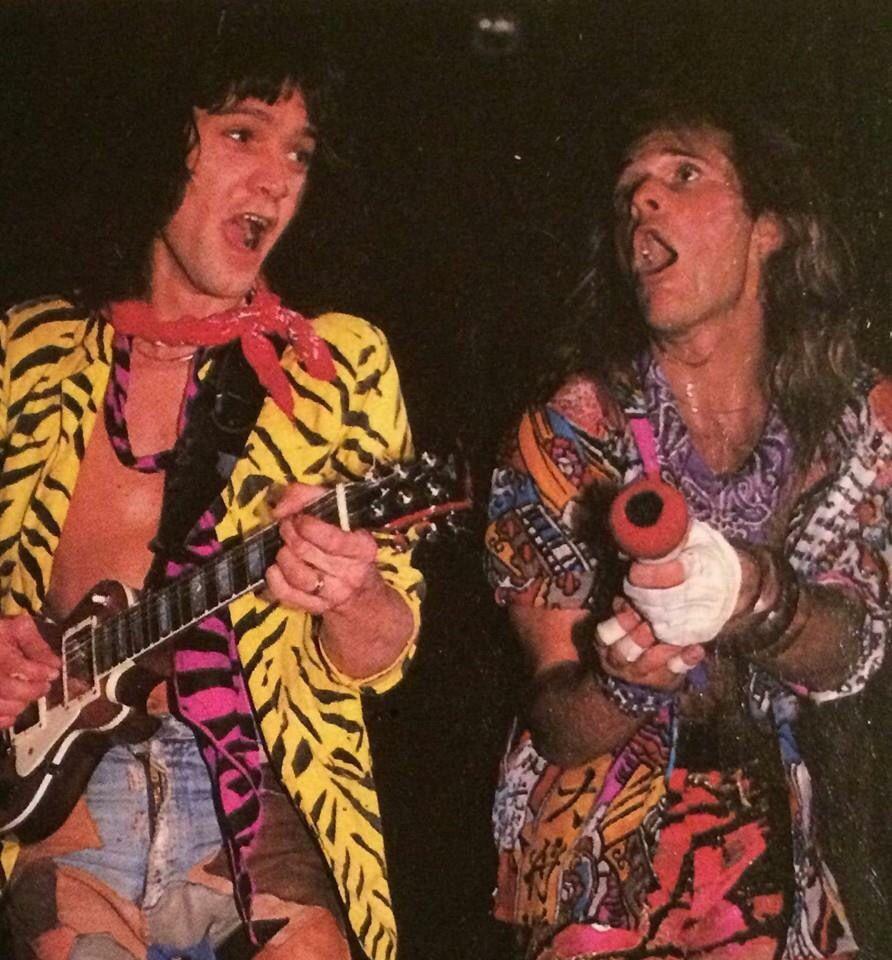 Eddie Van Halen David Lee Roth 1984 Eddie Van Halen Van Halen Van Halen 5150