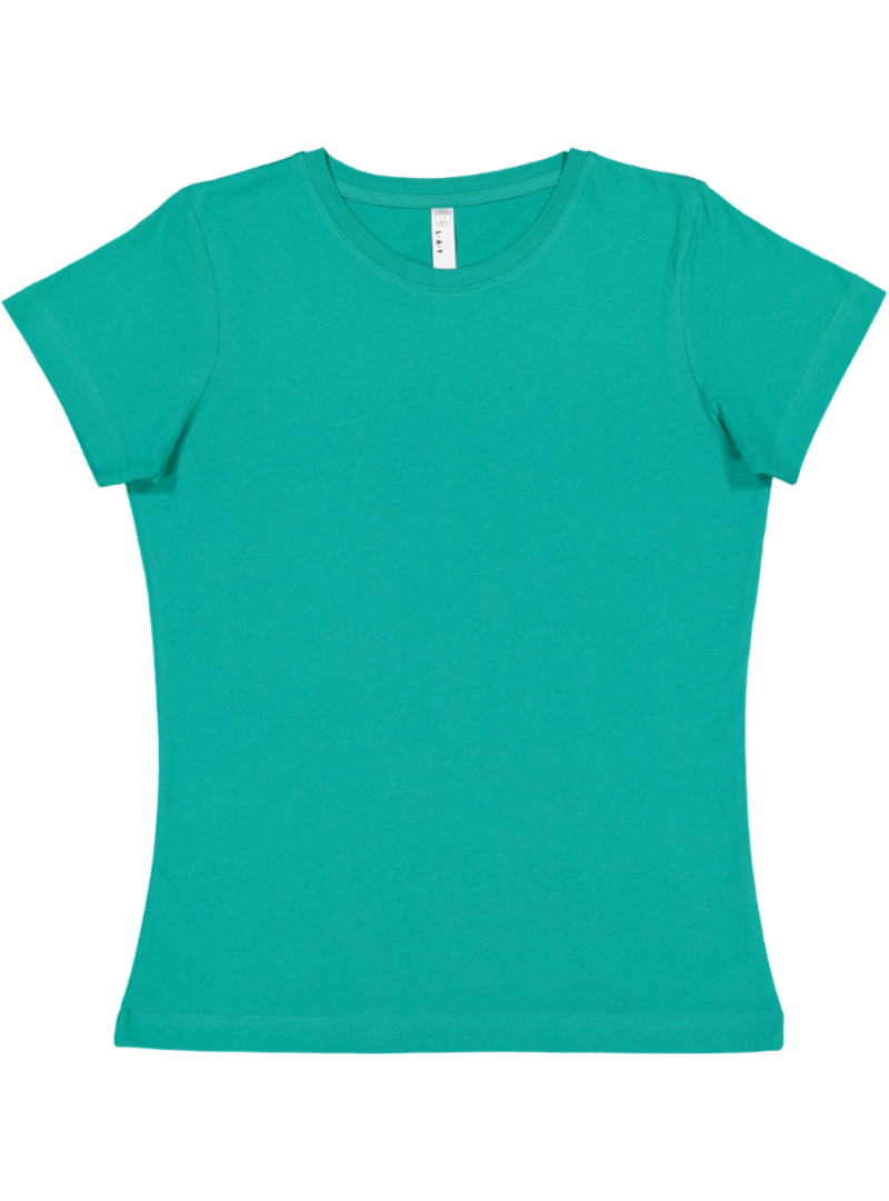 LAT Ladies 100/% Cotton Jersey Crew Neck Short Sleeve Tee