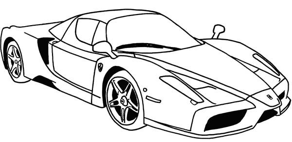 Ferrari Sport Cars Coloring Pages : Kids Play Color Race Car Coloring  Pages, Cars Coloring Pages, Sports Coloring Pages