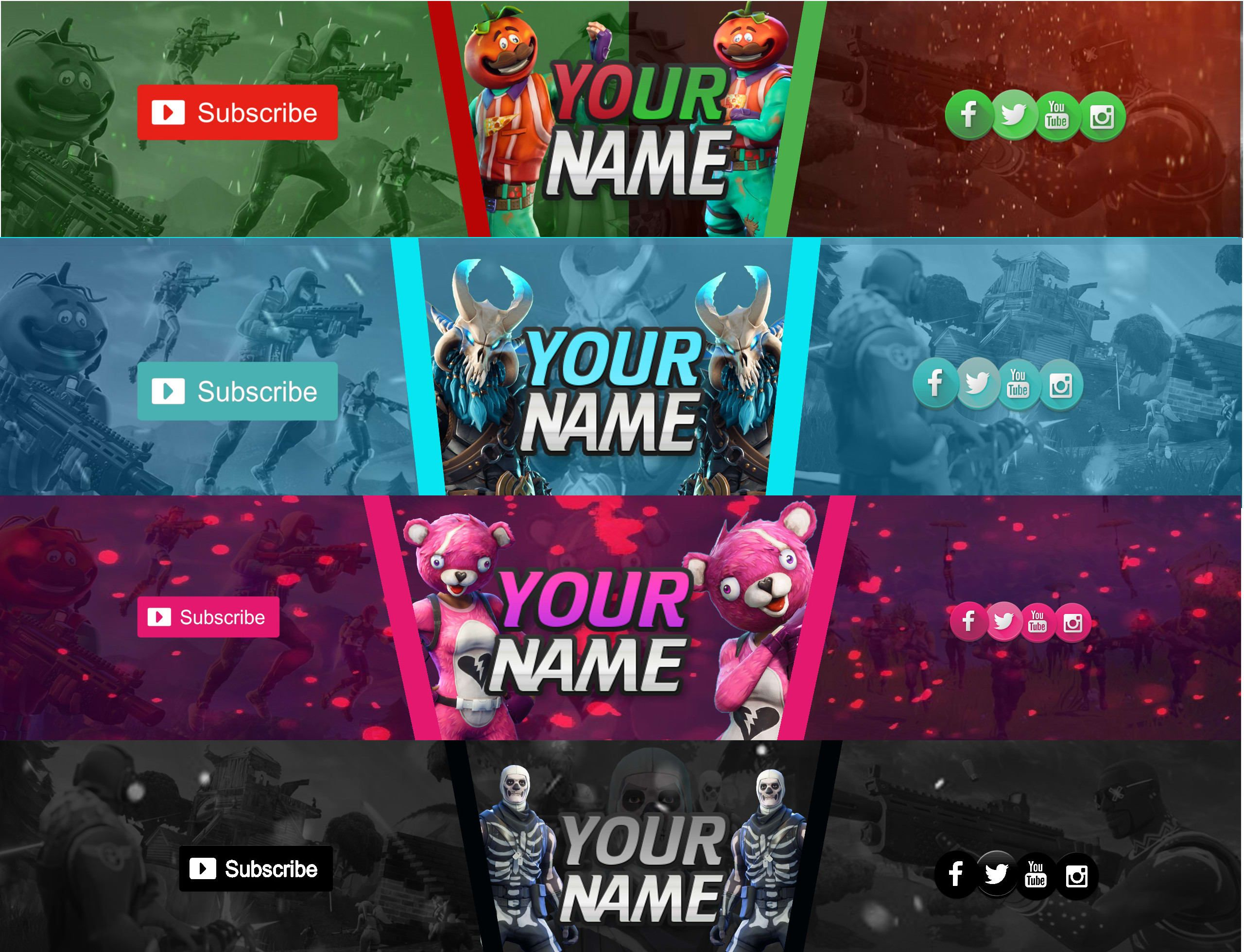 Customize The Best Fortnite Etc Banners On Fiverr For You By Youtube Banner Design Best Banner Banner Design