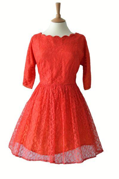 Lace Vintage Prom Dress