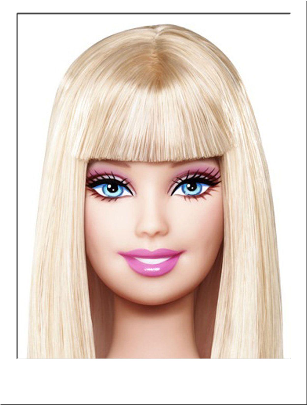 Cute hairstyles for barbie dolls - Barbie Doll Costume Wig Long Blonde Straight Fringe Hair