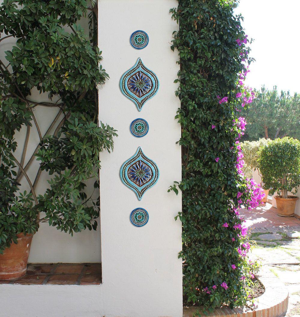 Abstract art for garden garden decor made from ceramic