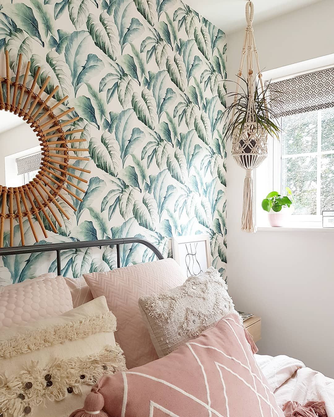 Pin On Botanical Bedroom Boho bedroom ideas wallpaper