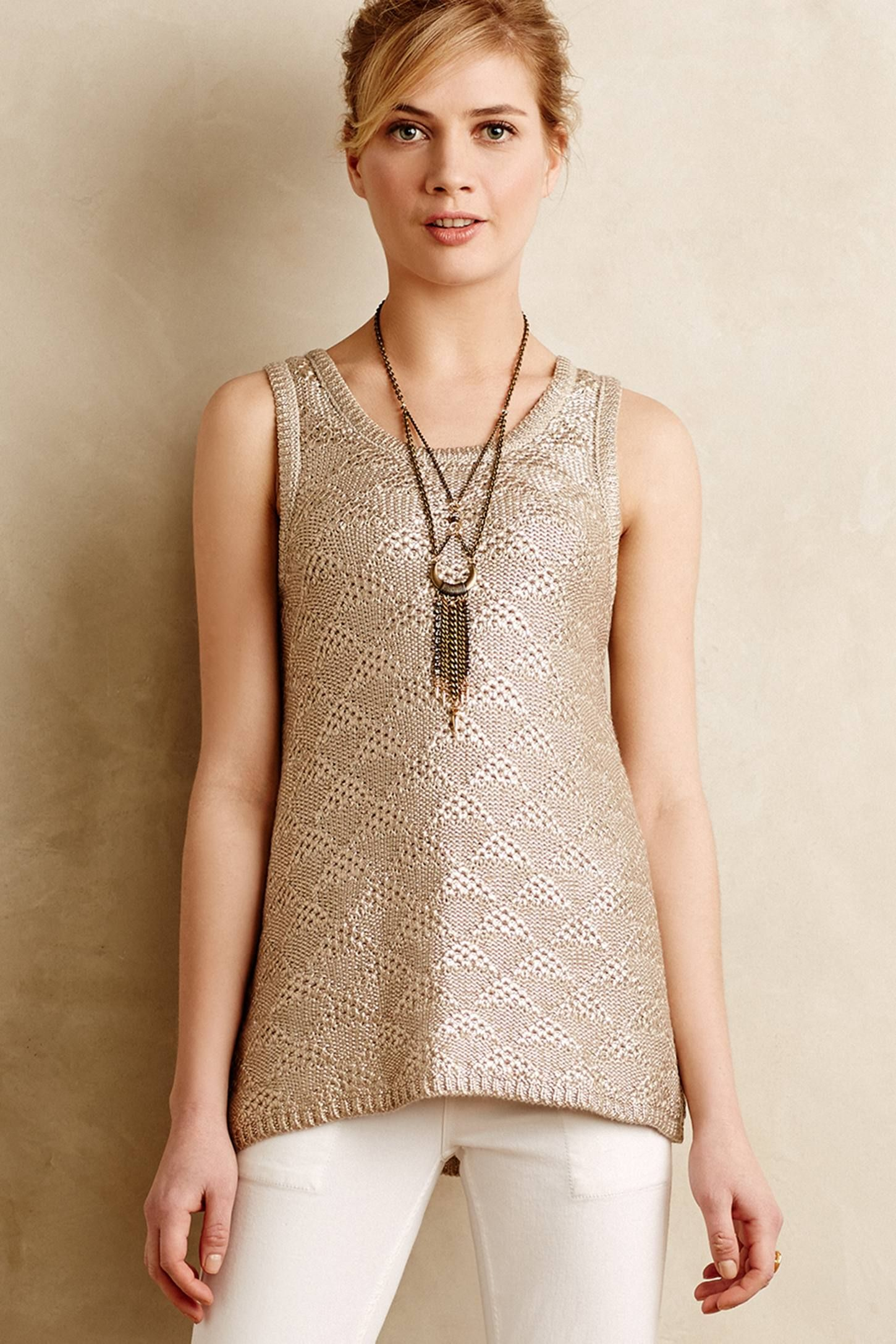 Sana foiled tank anthropologie anthropologie pinterest