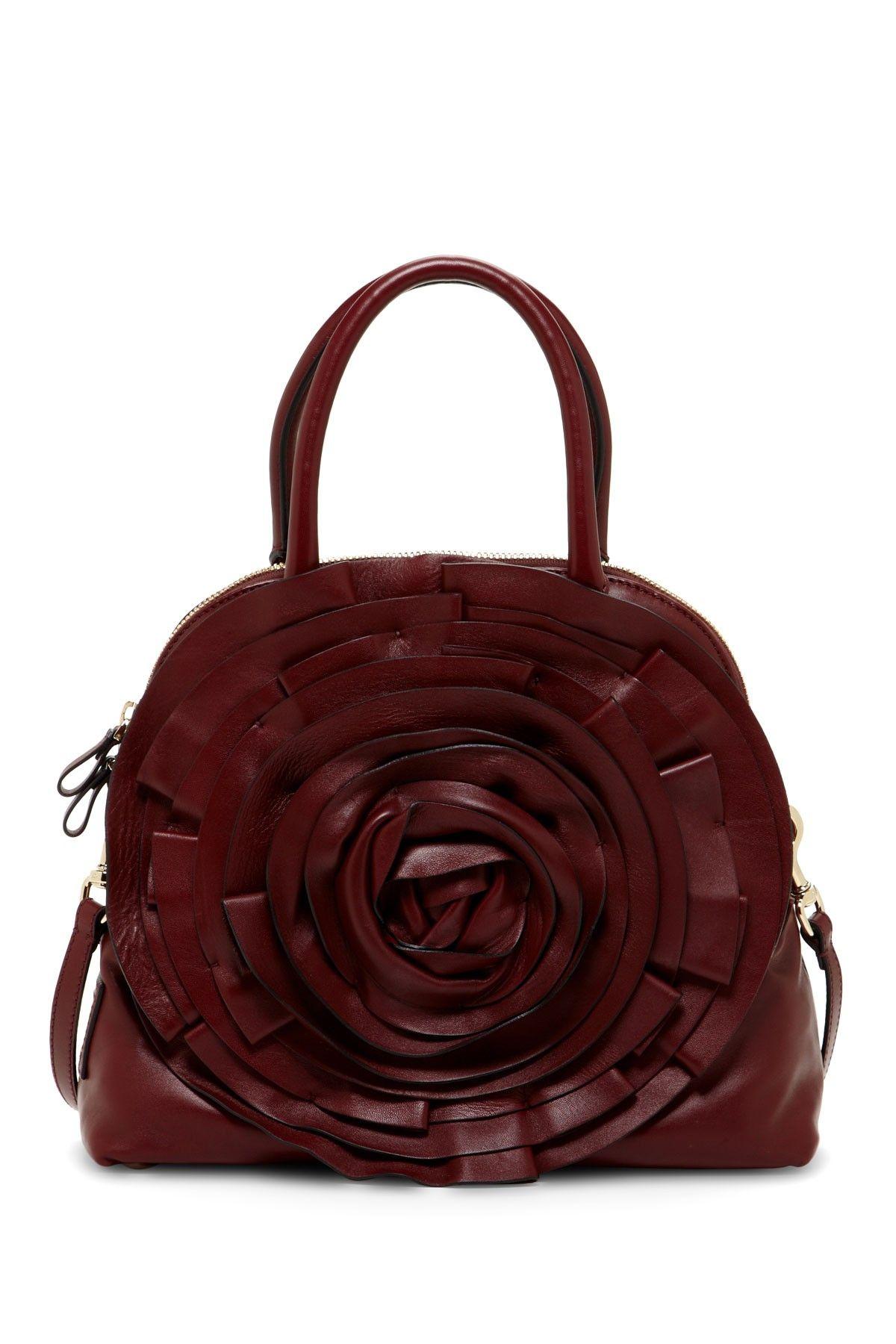 Valentino Ruffle Rosette Handbag