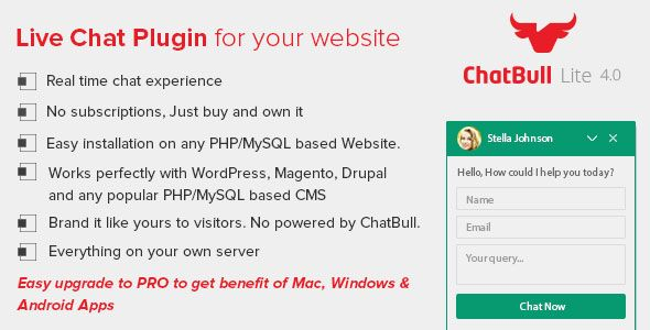 Download ChatBull Lite - PHP Live Chat Nulled Latest Version - invoice lite