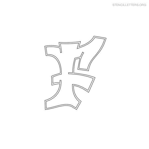 F  Stencil Letters F Printable Free F Stencils  Stencil Letters