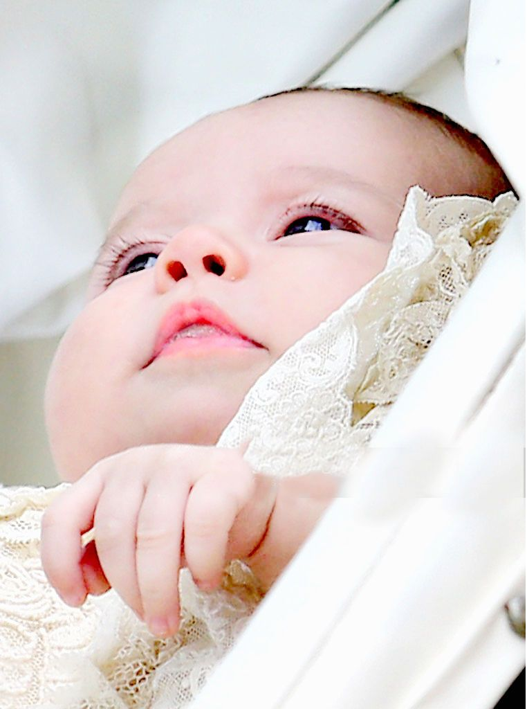 Princess Charlotte at her christening