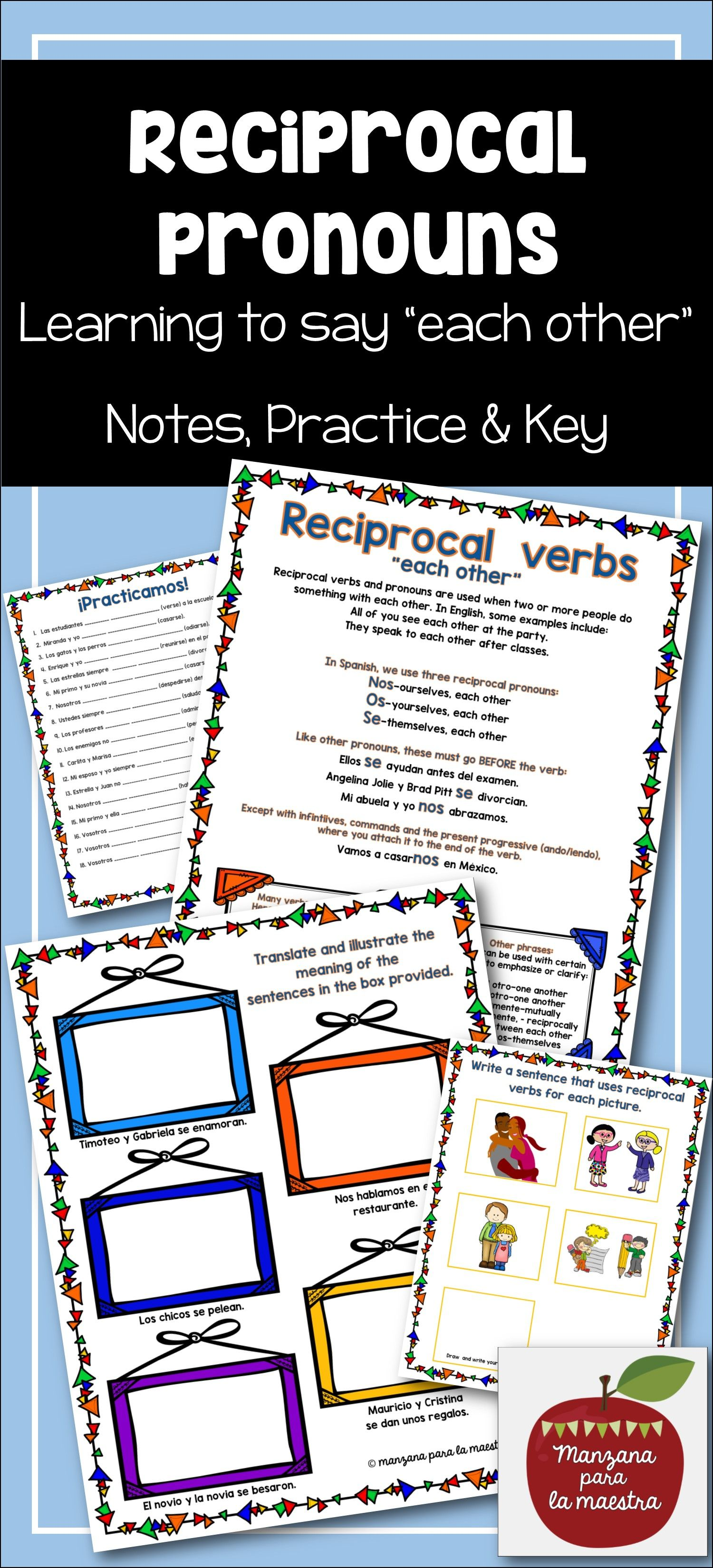 Reciprocal Verbs And Pronouns In Spanish