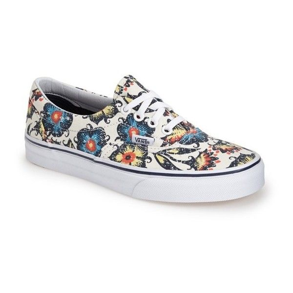 93cf365281 Vans  Era  Floral Print Sneaker ( 33) ❤ liked on Polyvore featuring shoes