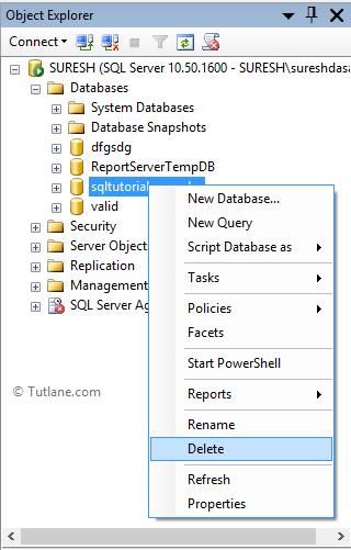 Drop Or Delete Database In Sql Server Using Management Studio Sql Server Sql Server