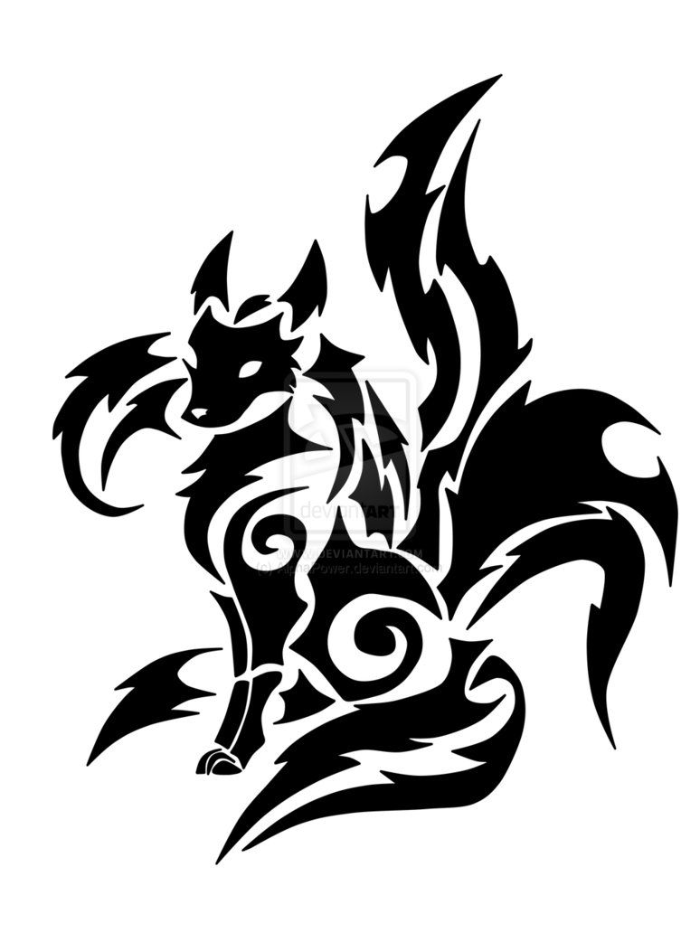 Tribal Kitsune by AlphaPower on DeviantArt | desenhos ...