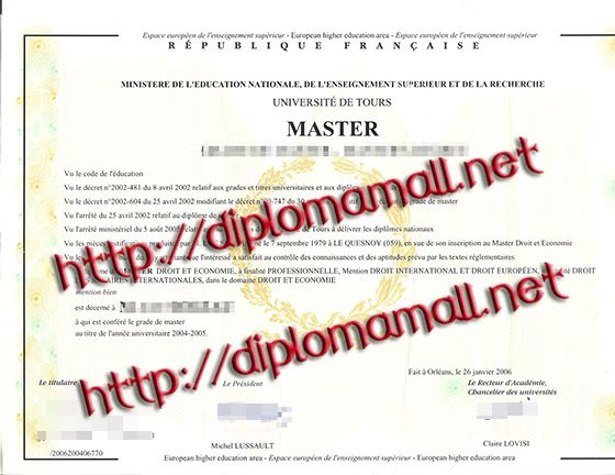 Université de Tours degree. buy degree, buy masters degree, buy bachelor degree, fake diploma, where to buy diploma. Skype: diplomamall QQ:601199039 E-mail: diplomamall@outlook.com Website: http://www.diplomamall.net/