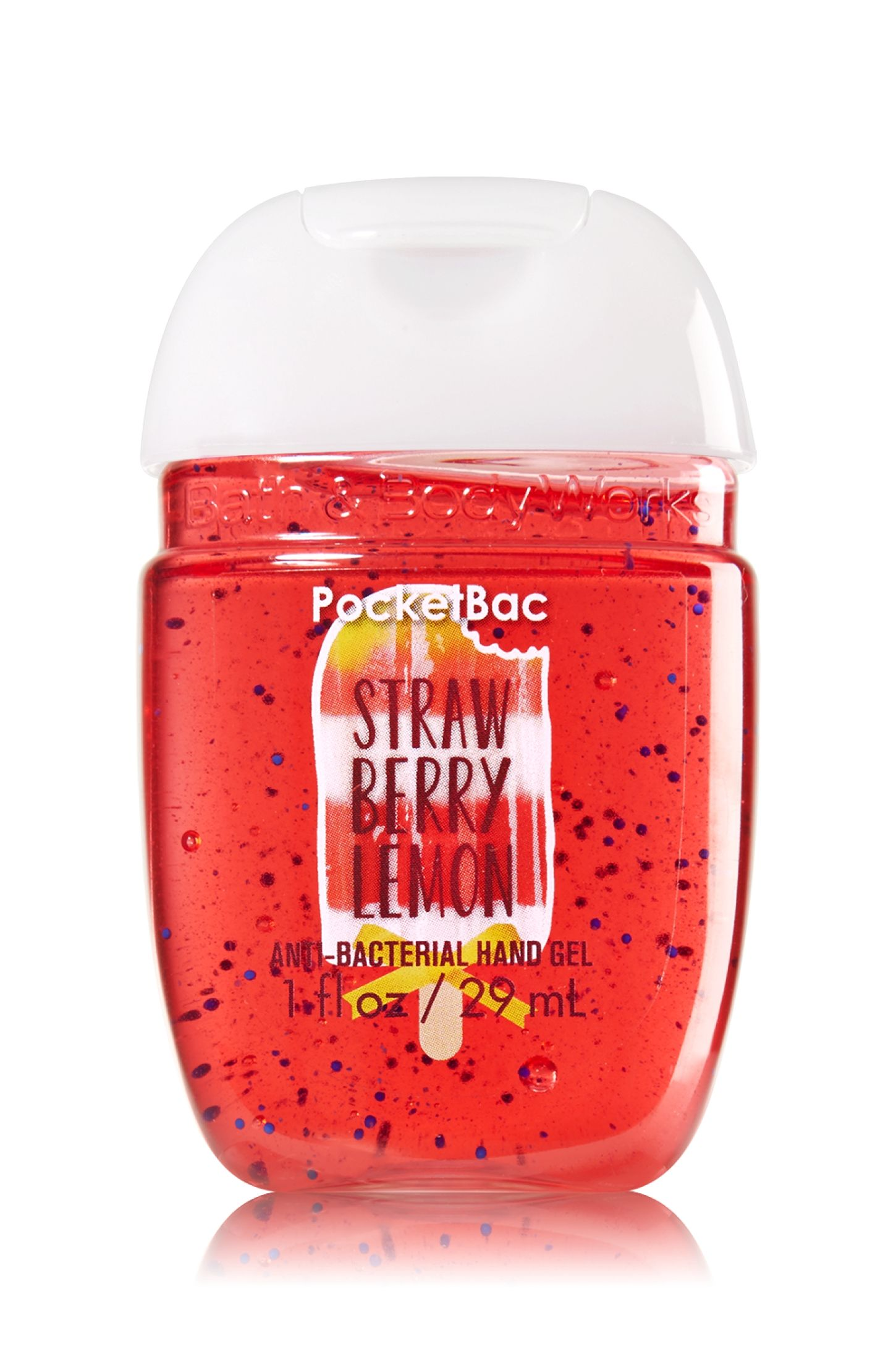 Bath Body Works Strawberry Lemon Pocketbac Sanitizing Hand Gel