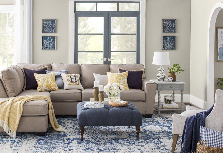 Hillsby oriental beige blue area rug