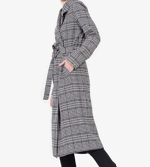 Photo of Plaid Long Coat Size S-m-l-xl Convenience of payment by credit card with one click …