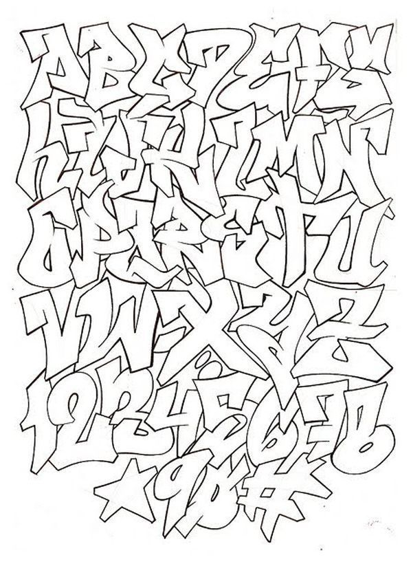 Graffiti Alphabet Letters A Z Styles Google Search Fonts