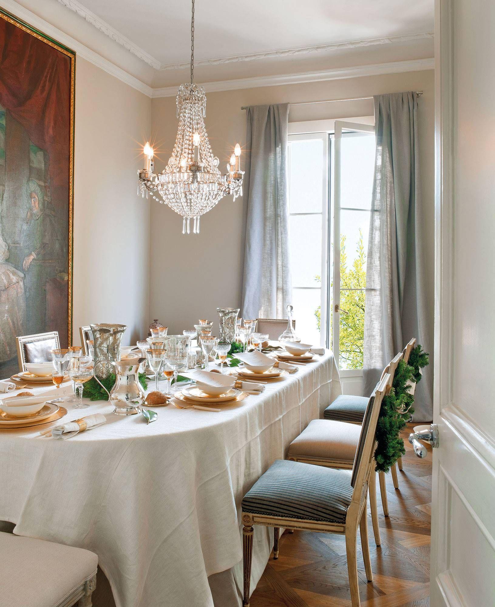 Comedor de navidad en la cocina casas de navidad - Decorar una mesa de comedor ...