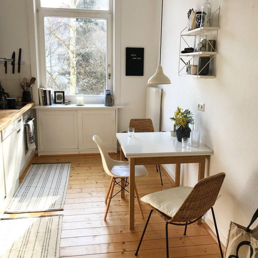 Sonne und Mimosen in der Küche