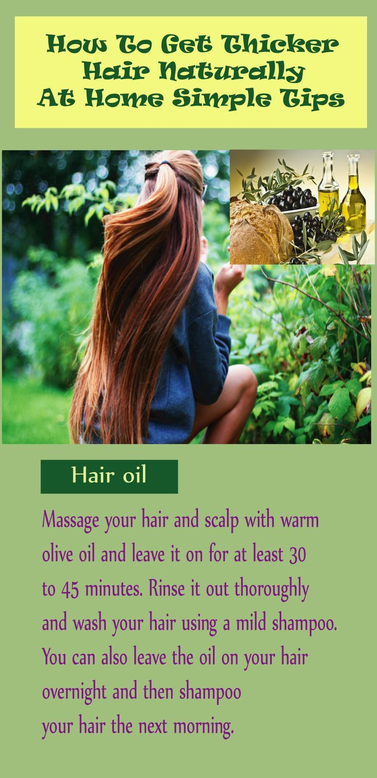 how to get thicker fuller hair at home