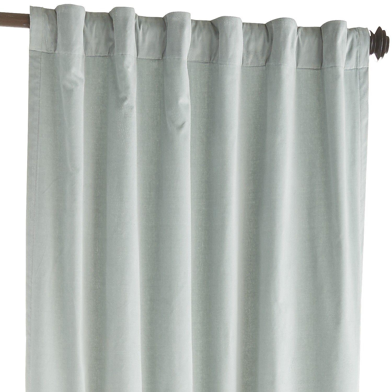 Sheridan Velvet Curtain Smoke Blue Cotton Blue Velvet