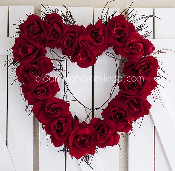 Valentine Wreath Diy Blooming Homestead Diy Valentines Day Wreath Valentine Wreath Diy Valentine Day Wreaths