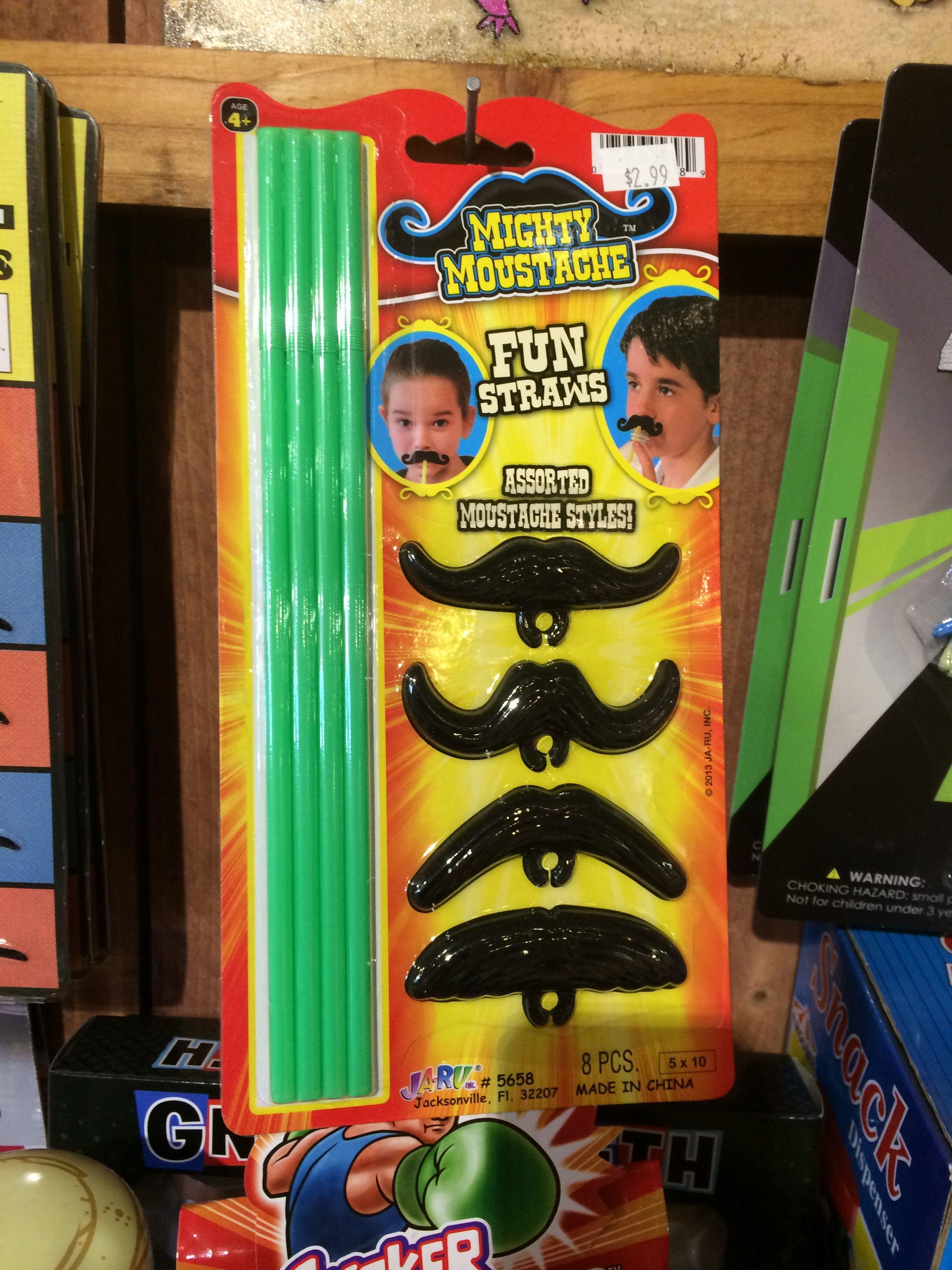 Straw Mustache