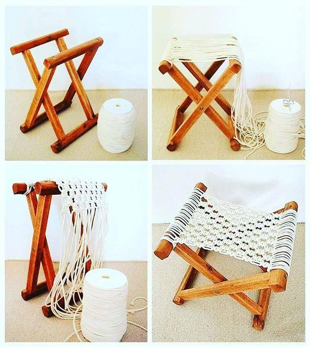 Macrame Bag, Macrame Design, Boho Designs, Boho Chic, Magazine Rack, Cotton Rope, Textiles, Wedding Decorations, Boho Decor - craftIdea.org