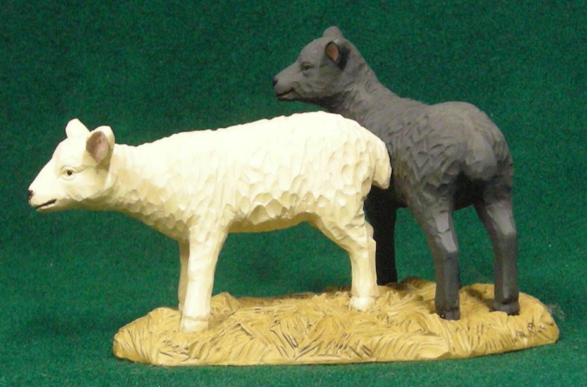 White and grey sheep by Blossom Bucket at the Cottage Gift Shop - Elmira, NY