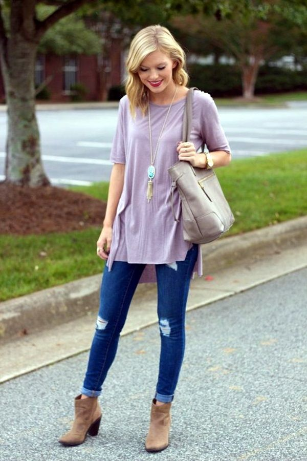 Wear Ankle Boots With Jeans Fashionably (40 Chic Ways ...