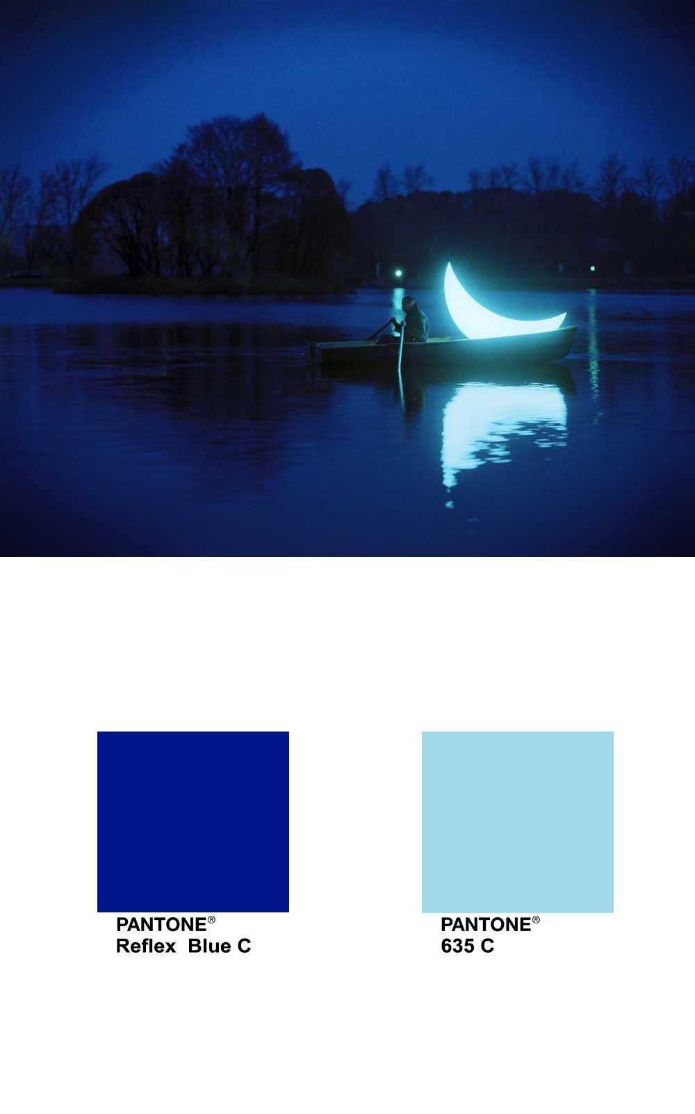 private moon   leonid tishkov pantone reflex blue c pantone 635 c