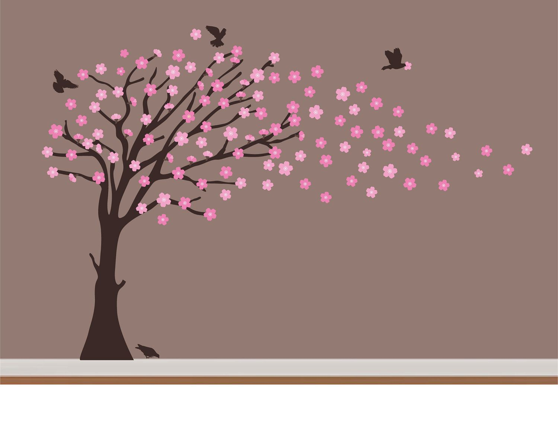 Custom Vinyl Wall Decal Cherry Blossom Tree For By NurseryWallArt - Custom vinyl wall decals cherry blossom tree