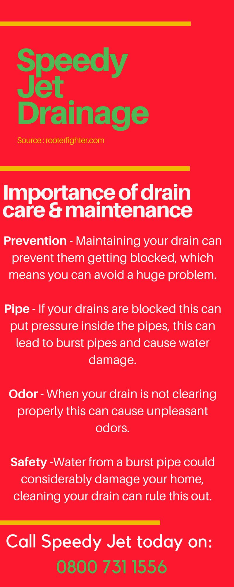 Importance of Drain Care & Maintenance Care maintenance