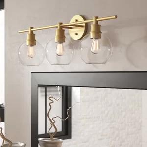 1 Light Single Dome Pendant Brass Vanity Light Vanity Lighting Bathroom Light Fixtures