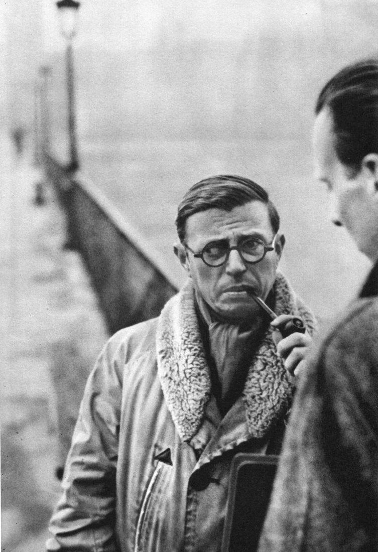 Cartier-Bresson - Jean Paul Sartre, 1946 - Gravure #jeanpaulsartre