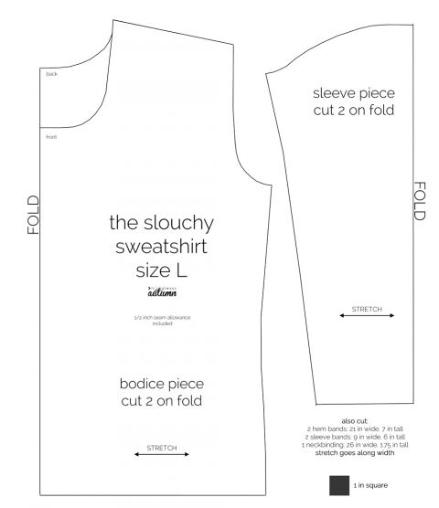 the perfect slouchy sweatshirt | Free pattern, Sweatshirt and Patterns