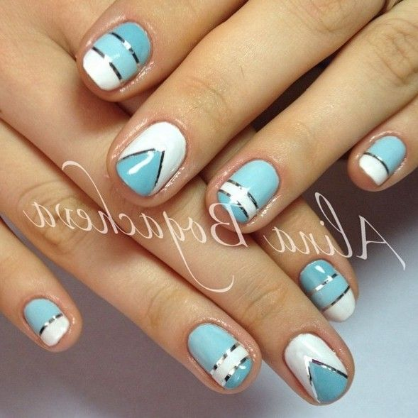 nail art using tape | teal polish | Pinterest | Scotch tape