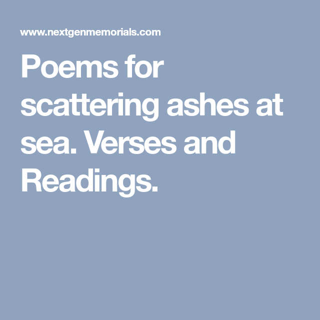 poems for scattering ashes
