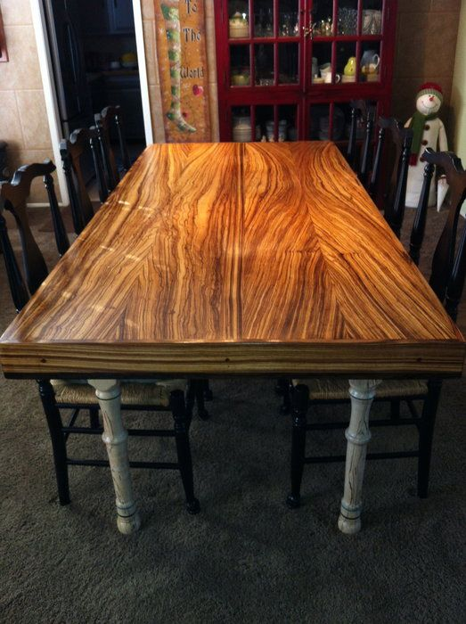 Handmade Zebrawood Dining Table