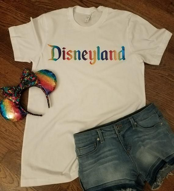 Disneyland Multi Colored Text Unisex Tshirt Disney Vacation Family Birthday